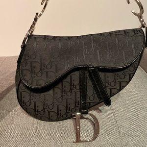 Dior Vintage Monogram Saddle Bag